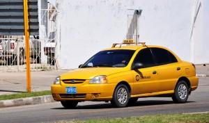 Modern taxi in Cienfuegos, Cuba